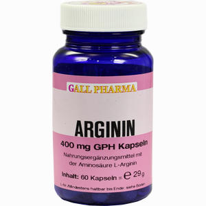 Abbildung von Arginin 400mg Gph Kapseln  60 Stück