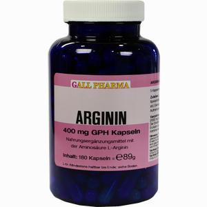 Abbildung von Arginin 400mg Gph Kapseln  180 Stück