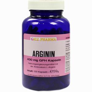 Abbildung von Arginin 400mg Gph Kapseln  120 Stück