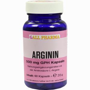 Abbildung von Arginin 500mg Gph Kapseln  60 Stück