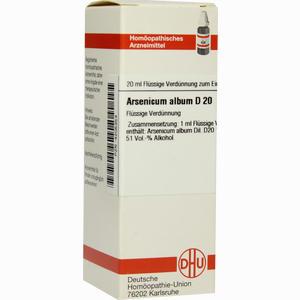 Abbildung von Arsenicum Album D20 Dilution 20 ml