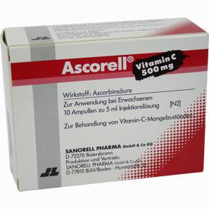 Abbildung von Ascorell Vitamin C 500mg Ampullen  10 x 5 ml