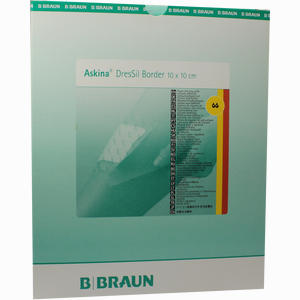Abbildung von Askina Dressil Border 10x10 Silikon Schaumverband 10 Stück