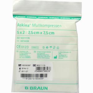 Abbildung von Askina Mullkompressen 7.5x7.5cm Steril  5 x 2 Stück