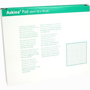 Abbildung von Askina Pad Wundauflage Steril 10x10cm Nichthaftend 10 Stück