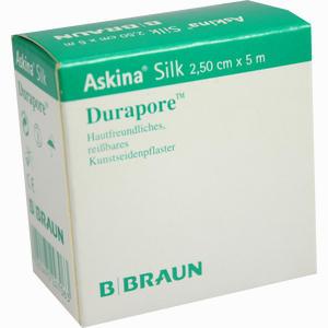 Abbildung von Askina Silk Durapore Seidenpflaster 5mx2,5cm 1 Stück