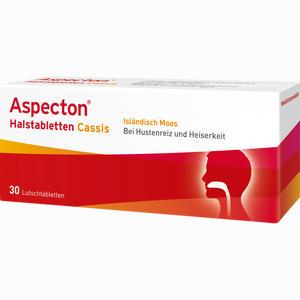 Abbildung von Aspecton Halstabletten Cassis Lutschtabletten 30 Stück