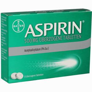 Abbildung von Aspirin 500mg überzogene Tabletten  8 Stück