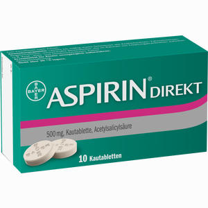 Abbildung von Aspirin Direkt Kautabletten 10 Stück