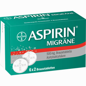 Abbildung von Aspirin Migräne Brausetabletten 12 Stück
