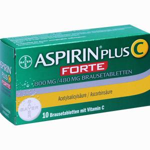 Abbildung von Aspirin Plus C Forte 800mg/480 Mg Brausetabletten  10 Stück