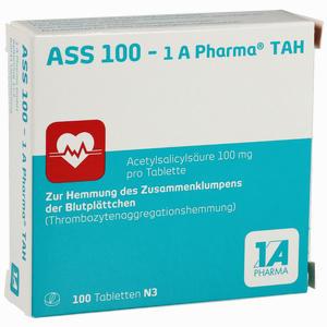 Abbildung von Ass 100 - 1 A Pharma Tah Tabletten 100 Stück
