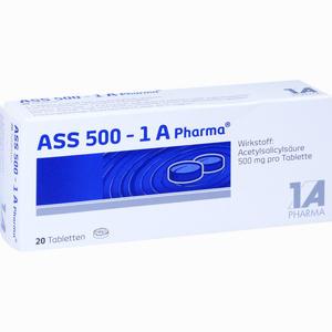 Abbildung von Ass 500 - 1 A Pharma Tabletten 20 Stück