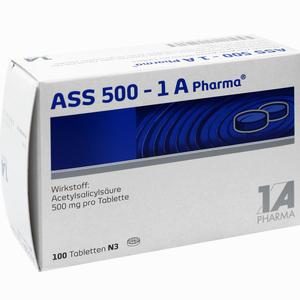 Abbildung von Ass 500- 1a Pharma Tabletten 100 Stück