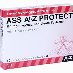 Abbildung von Ass Abz Protect 100 Mg Magensaftresistente Tabletten  50 Stück