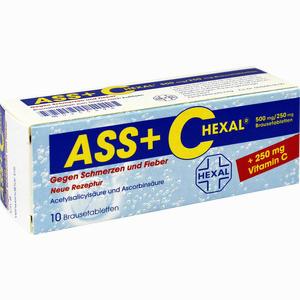 Abbildung von Ass + C Hexal gegen Schmerzen und Fieber Brausetabletten 10 Stück