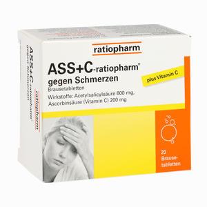Abbildung von Ass + C- Ratiopharm gegen Schmerzen Brausetabletten 20 Stück