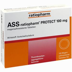 Abbildung von Ass- Ratiopharm Protect 100mg Tabletten 100 Stück