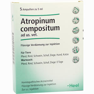 Abbildung von Atropin Compositum Ad Us. Vet. Ampullen  5 Stück