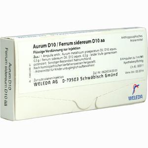 Abbildung von Aurum D10 /Ferrum Sidereum D10 Aa Ampullen 8 x 1 ml