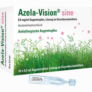 Abbildung von Azela- Vision Sine 0.5mg/ml Augentropfen im Einzeldosisbehältnis  10 x 0.3 ml