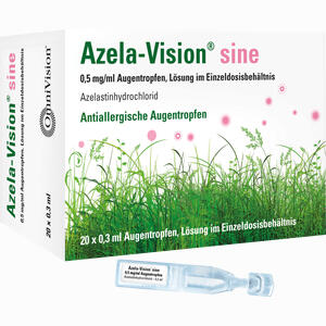 Abbildung von Azela- Vision Sine 0.5mg/ml Augentropfen im Einzeldosisbehältnis  20 x 0.3 ml