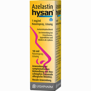 Abbildung von Azelastin Hysan Nasenspray  10 ml