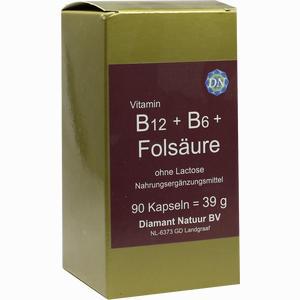 Abbildung von B 12 + B Folsaeure Ohne Lactose Kapseln 90 Stück
