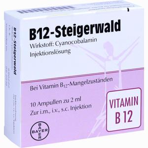 Abbildung von B- 12 Steigerwald Injektionslösung  10 x 2 ml