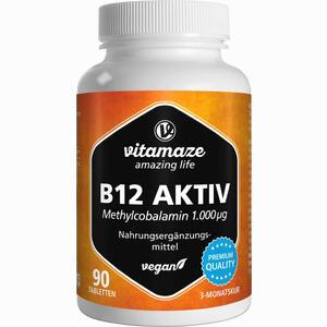 Abbildung von B12 Aktiv 1000 Ug Vegan Tabletten 90 Stück