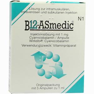 Abbildung von B12- Asmedic Ampullen 5 x 1 ml