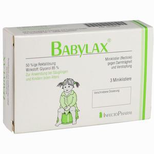 Abbildung von Babylax Miniklistier 3 Stück