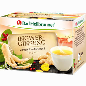 Abbildung von Bad Heilbrunner Ingwer- Ginseng Tee Filterbeutel 15 Stück