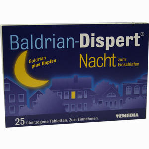 Abbildung von Baldrian Dispert Nacht Zum Einschlafen Tabletten 25 Stück