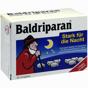 Abbildung von Baldriparan Stark für die Nacht Dragees  90 Stück