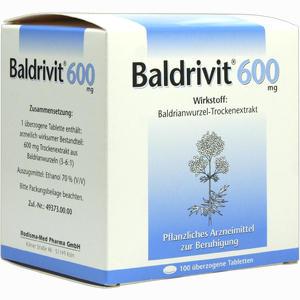 Abbildung von Baldrivit 600mg Tabletten 100 Stück