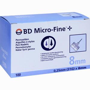 Abbildung von Bd Micro- Fine+ 8 Nadeln 0. 25x8 Mm 100 Stück