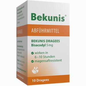 Abbildung von Bekunis Dragees Bisacodyl 5mg Tabletten 10 Stück