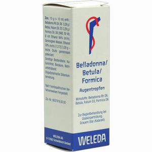 Abbildung von Belladonna/bertula/formica Augentropfen 10 ml