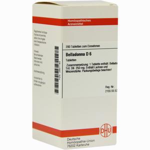Abbildung von Belladonna D6 Tabletten 200 Stück