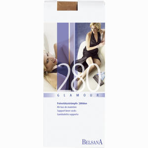Abbildung von Belsana 280den Glamour Feinstützstrümpfe Gr. M Siena Kurz 2 Stück