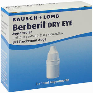 Abbildung von Berberil Dry Eye Augentropfen  3 x 10 ml