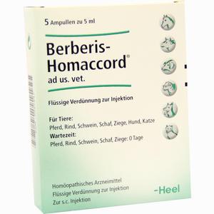Abbildung von Berberis- Homaccord Ad Us. Vet. Ampullen  5 x 5 ml