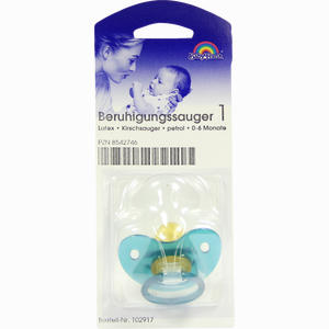 Abbildung von Beruhigungssauger 1 Latex Kirschsauger Dunkelblau 0- 6 Monate Büttner-frank 1 Stück