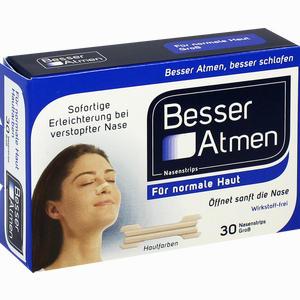 Abbildung von Besser Atmen Nasenstrips Beige Groß Pflaster 30 Stück