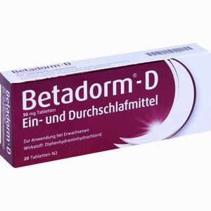 Abbildung von Betadorm D Tabletten 20 Stück