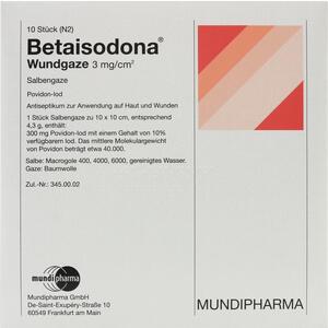 Abbildung von Betaisodona Wundgaze 10x10  10 Stück