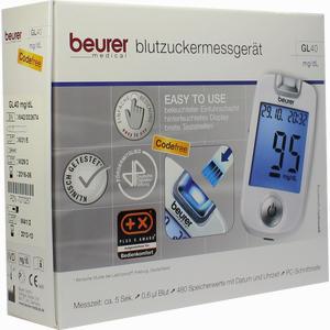 Abbildung von Beurer Blutzuckermessgerät Gl 40 Mg/Dlcodefree 1 Stück