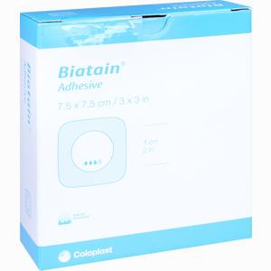 Abbildung von Biatain Schaumverband 7.5x7.5 Cm Selbst Haftend  B2b medical 10 Stück