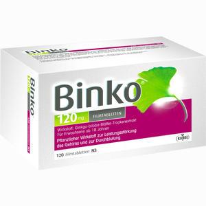 Abbildung von Binko 120 Mg Filmtabletten 120 Stück